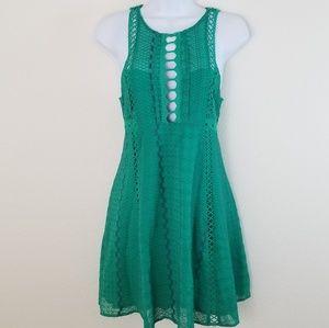 Free People Mini Short Green Casual Summer Dress
